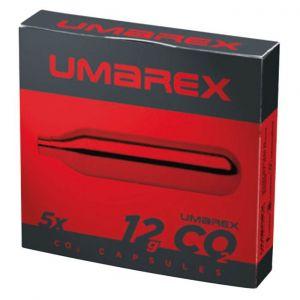 Capsules 12g sparclette CO2 Umarex par 5 pour arme a air comprimé