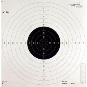 Cible pistolet C50 carton ISSF pour pistolet 25/50 mètres