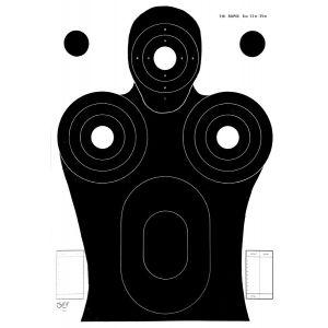 Cible tir Rapid 6-12-25m 50x70 carton