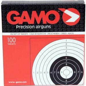 Cibles  14cm x 14cm (x100) en carton pour tir de 10 a 50m