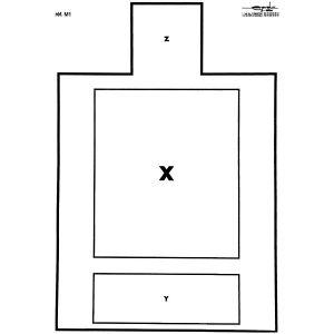 Cible M1 pour tir IST/C NTTC 50x70cm carton
